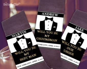 Best Value Asking ushers, Groomsmen proposal, Asking groomsmen socks, Groomsmen gifts, Instant Download, Editable PDF template
