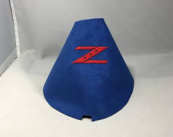 Nissan 350z 370z Embroidered Blue Suede Shift Boot