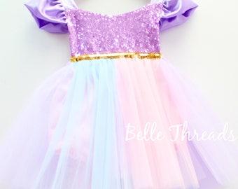 Unicorn Tutu Dress, Unicorn Tutu, Unicorn Romper, Unicorn Birthday Outfit, Unicorn Costume, Unicorn 1st Birthday, Unicorn Party Dress,