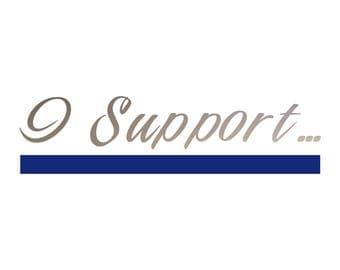 I Support Law Enforcement | I Support Blue Line | Blueline Decal | Blueline Vinyl | Car Decal | Vinyl Decal
