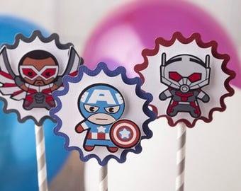 Marvel Avenger cupcake topper