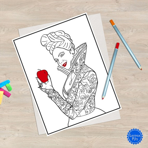 2 Once Upon A Time Coloring Book Pages Regina/Evil Queen And