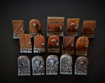 Set of Doors (15) for Dungeons and Dragons