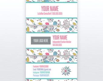 Floral Business Card | 3.5x2 | Printable | Custom Business Cards