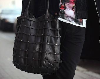 Handmade Leather Bag / Black leather bag / Beige Leather Bag / Handbag leather / Unisex Bag / Leather Bag