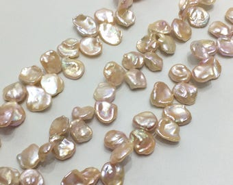 11-15mm Pink Purple Keshi Pearl Strand, Freshwater Cultured Baroque Pearls for Jewelry Making, Irregular Pearl Beads Wholesale(ETFBS014)