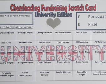 Stock clearance: 60 University Cheerleading Scratch Cards