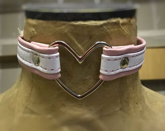 Pink and white Heart collar