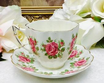 Victoria fine bone china teacup and saucer