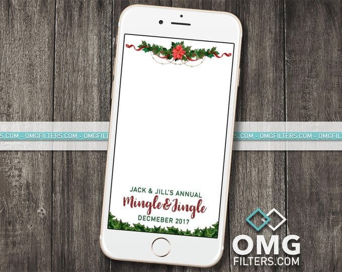 Holiday Party 3 - Custom Snapchat Geofilter - Christmas Party, Company / Business Party, Any Wording!