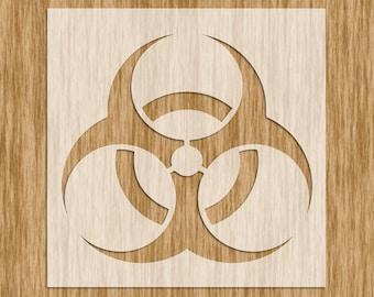 S0100M - Biohazard Symbol Stencil MINI SERIES