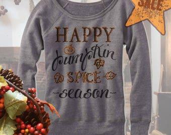 Halloween Sweater. Happy Pumpkin Spice Season Sweatshirt. Fall Sweater. Autumn. Fleece. Gift.