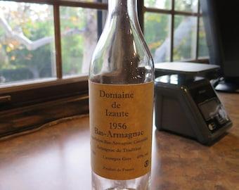 1956 Bottle Vintage Armagnac Domaine de Izaute Liquor With Red Waxed Cork 70cl