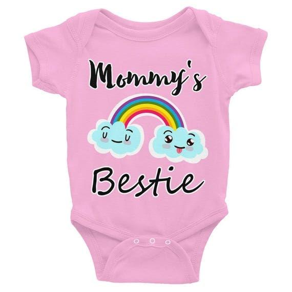 Mommy's Bestie Infant Bodysuit | Cute  Baby outfit | Adorable Baby Gifts, baby girl bodysuit, Infant Onesie | Cute Onesie, Cute baby clothes