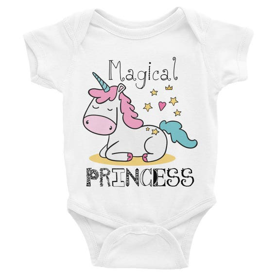 Unicorn Onsie - Magical Princess Infant Bodysuit- Unicorn Baby Onesie - Cute Unicorn Onesie - Baby Girl Gift, Baby Shower Gift, Pink Unicorn