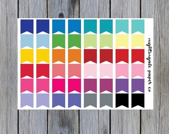 Large Multicolor Page Flag Planner Stickers