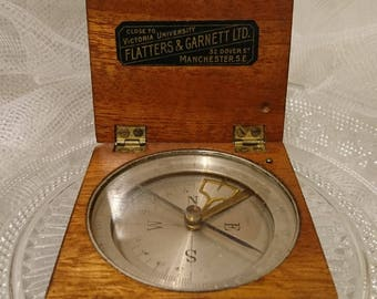 Very rare antique compass, compass and clinometer by Flatters and Garnett, extremely rare scientific antique compass