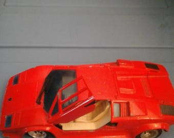 Majorette France Diecast HTF Lamborghini Countach 5000 QV 1:24 Red Scale Model