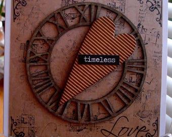Love card, Handmade card, heart card