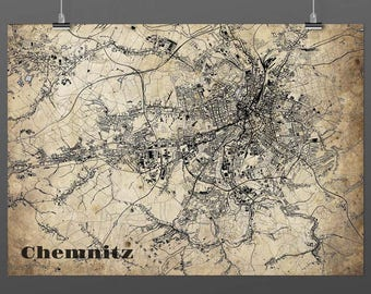 Chemnitz DIN A4 / DIN A3 - print - turquoise