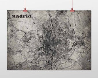 Madrid din A4/DIN A3-print-old-school