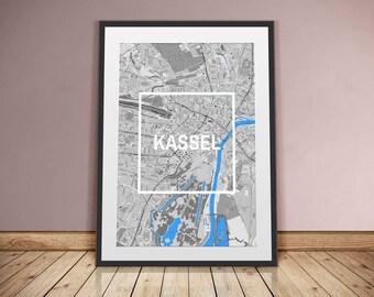 Kassel-framed City-digital printing