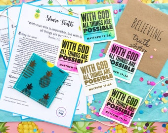 Share Truth Kit - Pineapples & Neon Summer Theme