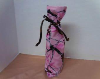 Pink Camo Wine Gift Bag