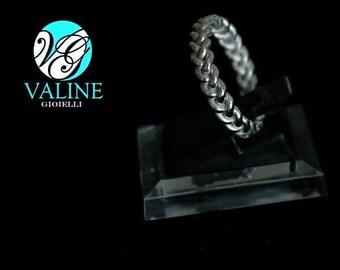 Simple braid ring in Silver 925