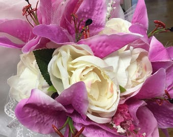 Wedding bouquet artifical flowers