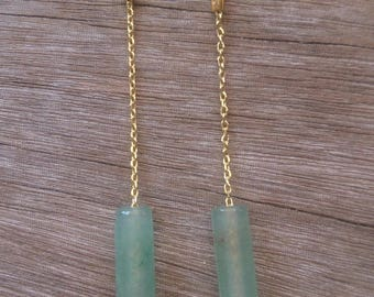 Gold plated Aventurine earrings