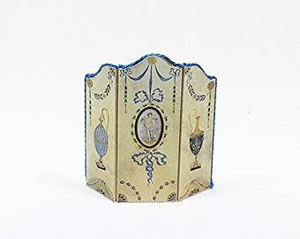 Miniature Fireplace Screen / Dollhouse Fireplace Screen / Miniature Screen