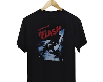 Hot Sale!!! Rare THE CLASH London Calling Big Printed Band T-Shirt Post Punk Rock New Wave Metal Ska Skate Swag Medium Size