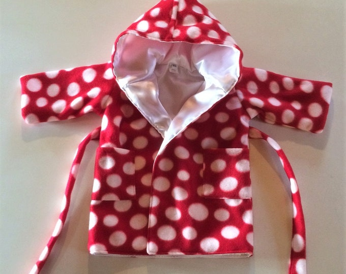 Baby Shower Gift, Bath Robe, Baby Clothes, Newborn Boy Clothes, Baby Girl Clothes Newborn, Hood, Red Hood, Baby Robe with Hood,