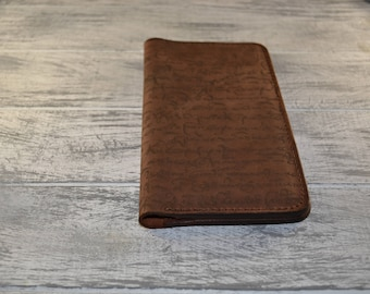 Handmade personalized  leather wallet custom wallet womens minimalist engraved wallet monogrammed unisex wallet  functional wallet