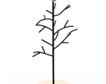 Ikee Design Black Metal Jewelry Branches Stand Rack with A Bird Decoration(SKU# COP3710)