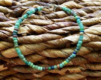 Glass Seed Bead Bracelet/friendship bracelet/boho/beach/bracelet/dainty/stack-able/stocking stuffer/christmas/GIFTS