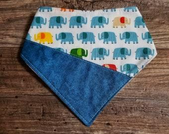 Bandana Bib | Elephant | Bibdana | Teething | Baby | Drool Bib | Kenton Creations | Kenton Creations | Handmade in Canada