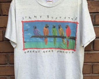 "20% Off Authentic Jimmy Buffet ""Parrotheads Phlock"" 1990s T-Shirt"