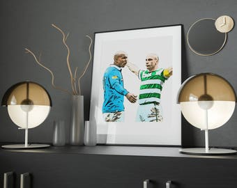 Celtic Poster, Digital Download, Football Wall Art, Instant Download Printable