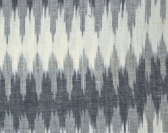 10% Off On Black, Gray and White Ikat Print fabric