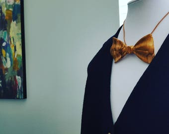 Olive Wood Bow Tie