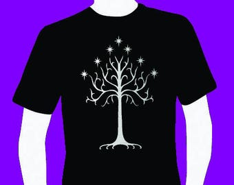 Tree of Gondor lord of the rings fans men's T-shirt