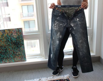 Painted Jeans (originally driftwood jeans)