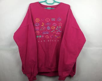Vintage Crazy Shirt Hawaii Pink Color Sweatshirt sweater jumper pullover b.kliban
