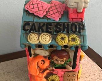 Groovy Cake Shop Vintage Piggy Bank - Fitz and Floyd