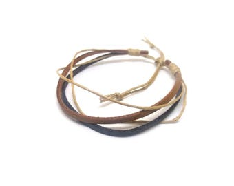 Adjustable unisex bracelet