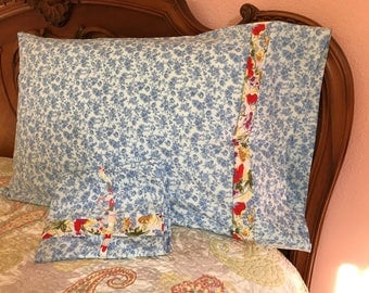 Victorian Blue Floral pillowcases
