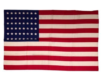 48 Star Flag, Vintage Silk Flag