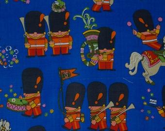 vintage 1960s Freida Clowes Pop Parade cotton  fabric